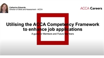 How to use the ACCA Competency Framework in the job application process.