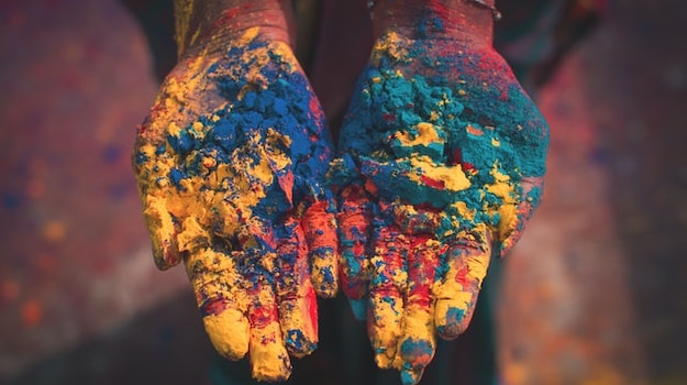 content india paint hands